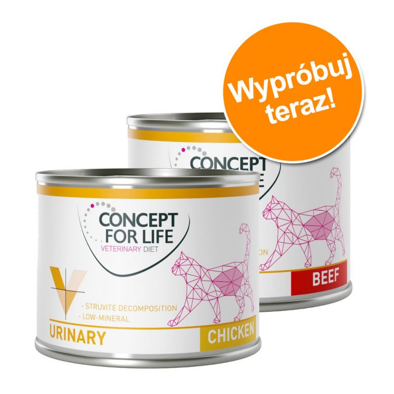 Pakiet mieszany: Concept for Life Veterinary Diet Urinary, kurczak i wołowina