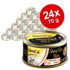 Pakiet mieszany GimCat ShinyCat, 24 x 70 g