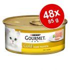 Pakiet mieszany Gourmet Gold Mus/Kawałki w Sosie, 48 x 85 g
