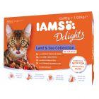 Pakiet mieszany IAMS Delights Adult, 12 x 85 g