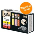Pakiet mieszany Sheba Creamy Snacks pasta dla kota, 18 x 12 g
