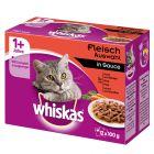 Pakiet mieszany Whiskas 1+ saszetki, 12 x 100 g