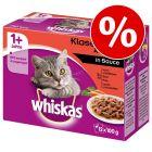 Pakiet mieszany Whiskas 1+ saszetki, 24 x 100 g w super cenie!