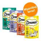 Pakiet próbny Dreamies przysmaki dla kota, 4 x 60 g
