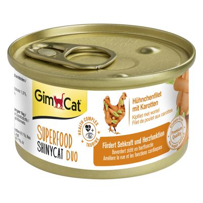 Pakiet Próbny GimCat Superfood ShinyCat Duo, 6 x 70 g