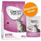 Pakiet próbny Kitten: 400 g suchej karmy Concept for Life  + 12 x 85 g karmy mokrej