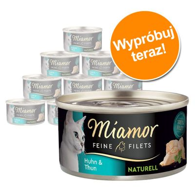 Pakiet próbny Miamor Feine Filets Naturelle, 12 x 80 g