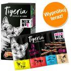 Pakiet próbny mokrej karmy Tigeria 6 x 85 g + Tigeria Sticks Miks 10 x 5 g