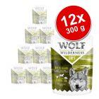 """Pakiet Wolf of Wilderness """"Soft & Strong"""", saszetki, 12 x 300 g"""