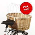 Panier de transport pour vélo avec grille de protection - montage porte-bagages à prix spécial !