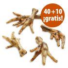 Patas de pollo 50 unidades snacks para perros en oferta: 40 + 10 ¡gratis!