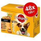 Экономупаковка Pedigree в пакетиках 48 х 100 г