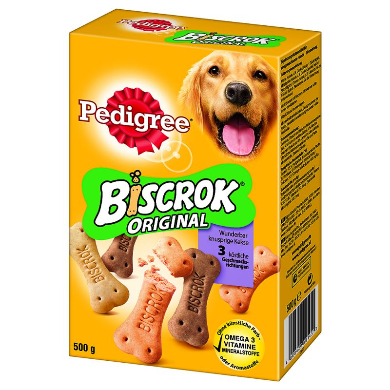 Pedigree Biscrok, 3 makua