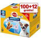 Pedigree DentaStix 112 unidades em promoção: 100 + 12 grátis!