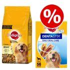 Pedigree Dry Dog Food + 56x Dentastix Large - Special Bundle!*