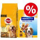 Pedigree Dry Dog Food + 56x Dentastix Medium - Bundle Price!*