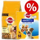 Pedigree Dry Dog Food + 56x Dentastix Small - Bundle Price!*