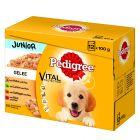 Pedigree Junior с паучове смесена опаковка