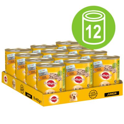Pedigree Junior Classic Nassfutter für Hunde 12 x 400 g