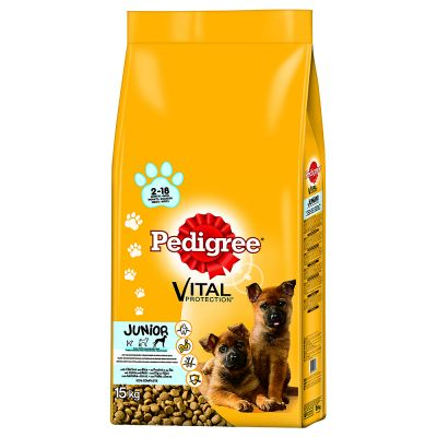 Pedigree Junior Maxi Complete with Chicken & Rice Dry Dog Food
