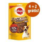 Pedigree Ranchos Originals Cuts 6 x 65 g em promoção: 4 + 2 grátis!