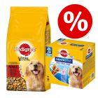 Pedigree ração 15 kg + 56 uds. Dentastix cães de porte grande a preço especial!