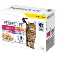 Perfect Fit Adult 1+ Pouches – Meat & Fish in Sauce