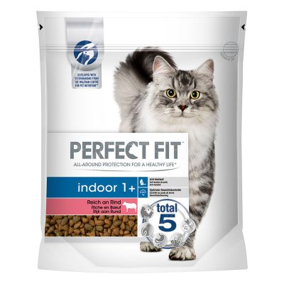 Perfect Fit Cat Dry Indoor 1+ s hovězím