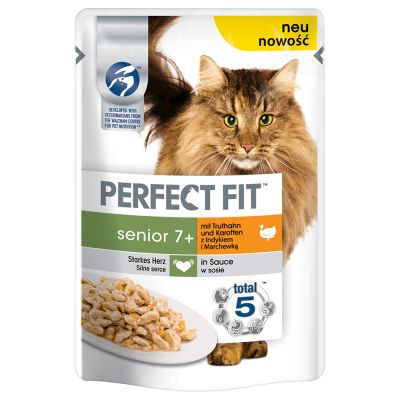 Perfect Fit Senior 7+ Pouches – Turkey & Carrot in Sauce