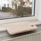 Plüschi kattepude til vindueskarmen