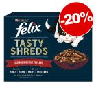 "20 % popust na 12/44 x 80 g Felix ""Tasty Shreds"" vrečke!"