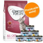 Poskusni set: 400 g Concept for Life + 6 x 70 g Cosma Nature