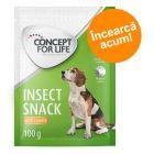 Preț de testare! 100 g Concept for Life Insect Snack pentru câini