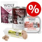 Preț de testare: 6 x 300/400 g  Wolf of Wilderness Pachete asortate