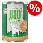 Preț de testare! zooplus Bio 1 x 400 g Bio pui cu orez & morcov hrană umedă