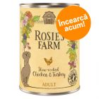 Preț exploziv: 24.90 lei! Rosie's Farm Adult 6 x 400 g, Pui & Curcan