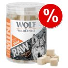 Preț exploziv - 9,90 lei! Wolf of Wilderness Mini RAW Snacks (liofilizate)