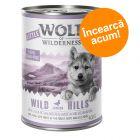 Preț exploziv - 29,90 lei! 6 x 400 g Wolf of Wilderness Wild Hills