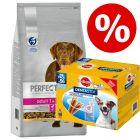 Preț special! 6 kg Perfect Fit hrană uscată + Pedigree Dentastix snackuri