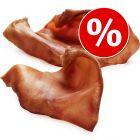 10 Premium Bavarian Pigs' Ears Dog Chews - Special Price!*