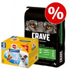 Prezzo speciale! 11,5 kg Crave Adult Dog + 56 snack Dentastix