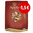 Prezzo speciale! 24 x 70 g Applaws Buste in Brodo
