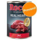 Prezzo prova! 1 x 400 g Rocco Real Hearts Manzo & Cuori di Pollo
