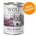 """Prezzo prova! 6 x 400 g Wolf of Wilderness """"Carne allevata all'aperto"""""""