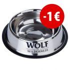Prezzo speciale! Ciotola antiscivolo in acciaio Wolf of Wilderness