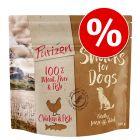 Prezzo speciale! 100 g Purizon Snack senza cereali per cani