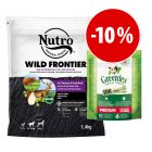 Prezzo speciale! 1,4kg Nutro + 170g Greenies Snack Medium - Igiene Dentale