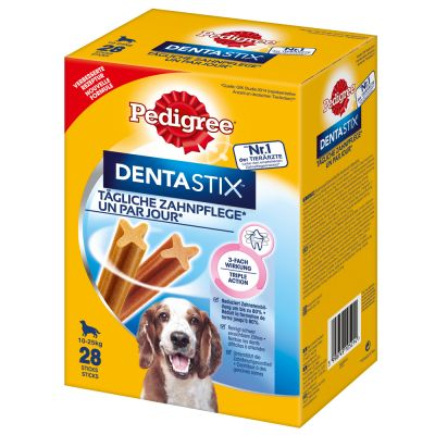 Prezzo speciale! 96 x 100 g Pedigree Vital Protection Buste + 28 Dentastix
