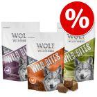Prezzo speciale! 3 x 180 g Wolf of Wilderness Wild Bites Snack per cani