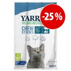 Prezzo speciale! 3 x 5 g Yarrah Bio Sticks da masticare con pesce